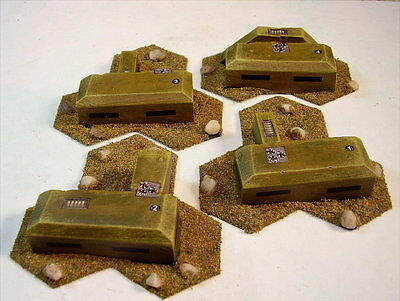 Battletech painted Fortress Accessory set Large bunkers