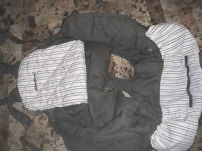 baby boy girl EDDIE BAUER brown SHOPPING CART SEAT COVER stripes SUPER COND @@