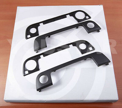 Set (2x) Front Outer Door Handle Cover Trims with Seals for BMW E34 E36 Z3 h15