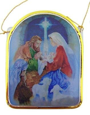"A Child is Born Nativity of Christ 2"" Christmas Tree Ornament Advent Decoration"