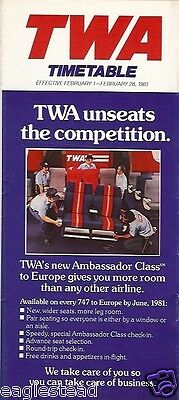 Airline Timetable - TWA - 01/02/81