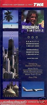 Airline Timetable - TWA - 03/09/97