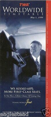 Airline Timetable - TWA - 01/05/99