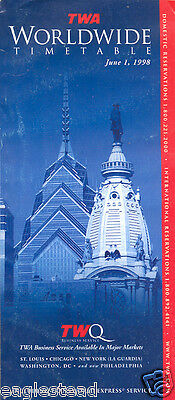 Airline Timetable - TWA - 01/06/98
