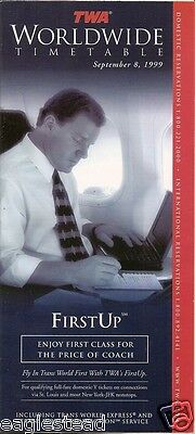 Airline Timetable - TWA - 08/09/99