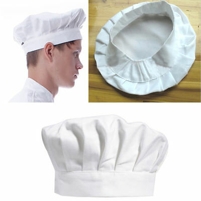 1PC Adult Elastic White Chef Hat Baker BBQ Kitchen Cooking Hat Costume Cap