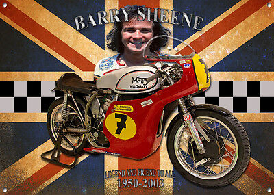 A3 Large Size Barry Sheene Metal Sign