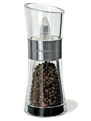 Cole & Mason Stainless Steel Inverta Pepper Mill Upside Down Grinder Shaker