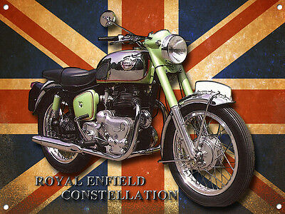 A3 Large Size Royal Enfield Constellation Metal Sign