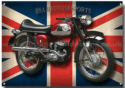Bsa Bantam Sports Metal Sign (A3) Size,vintage Bsa Motorcycles,classic Bikes
