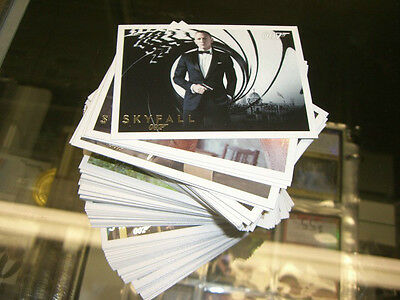 James Bond Autographs & Relics - 110 Card SILVER FOIL PARALLEL Base Set ( Autos