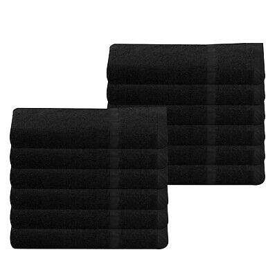 Cheap Black Bath Towels 100% Cotton 370 GSM Budget Quality Pack of 48 Bulk Buy