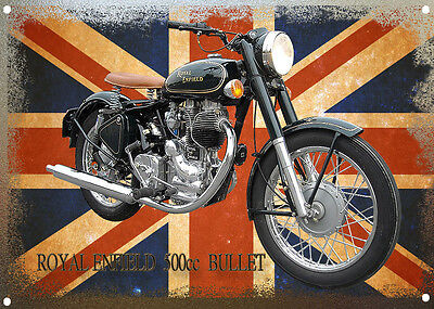 A3 Large Size Royal Enfield Bullet Metal Sign