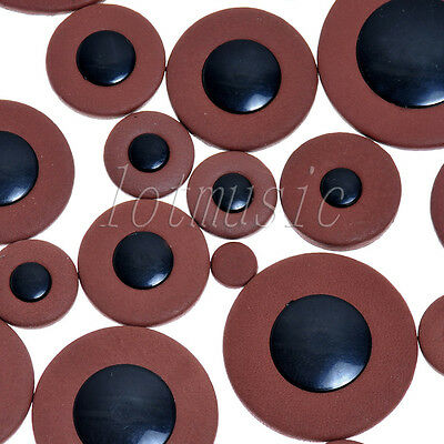 4set Tenor Saxophone Pads BROWN 25 Leather sax pads for Yamaha Size replacement