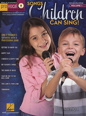 Songs Children Can Sing Pro Vocal Music Book/CD Boys & Girls Volume 1 Kids