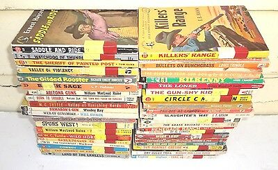 Lot of 40 Vintage 1930's - 1960's Western Country Cowboy Books