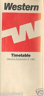 Airline Timetable - Western - 08/09/82