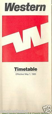 Airline Timetable - Western - 01/05/83