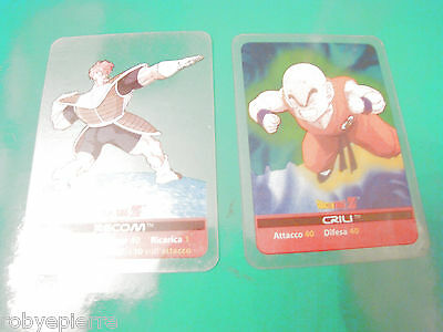 2 Carte card cards lamincards edibas DRAGON BALL Z 2006 Recom 44 Crili 69