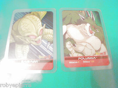 2 Carte card cards lamincards edibas DRAGON BALL Z 2006 Saibaim 139 Polunga 144