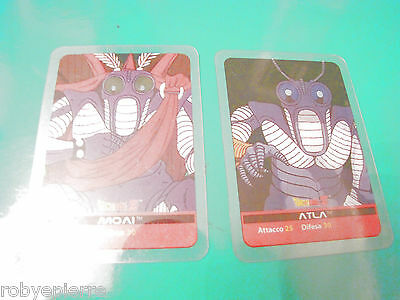 2 Carte card cards lamincards edibas DRAGON BALL Z 2006 Atla 58 Moai 127 trova