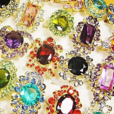 Charms 5pcs Big Cubic Zircon Gold P Fashion Womens Rings Wholesale Jewelry Lots