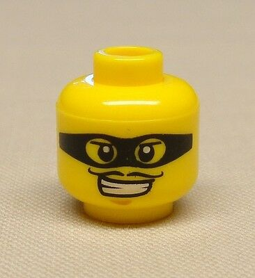 LEGO NEW LIGHT FLESH MINIFIGURE HEAD MASK WITH EYEHOLES ZORRO BANDIT FACE