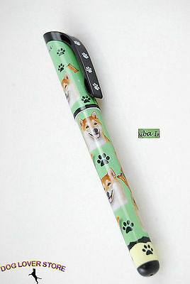 Shiba Inu Dog Gel Replaceable Writing Pen Ballpoint Black Ink