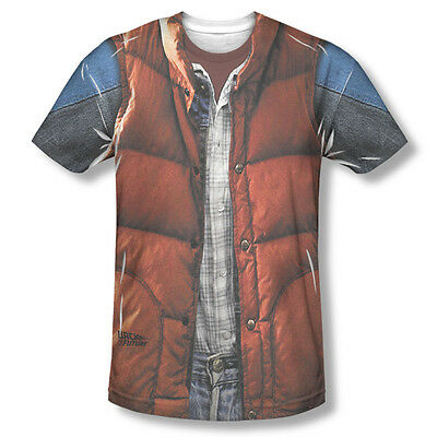 Back to the Future Movie Marty Mcfly Vest Sublimation ALL OVER Vintage T-shirt