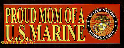 Proud Mom Of A Us Marine Bumper Sticker Pin Up Marines Son Daughter Bm-111 Mr