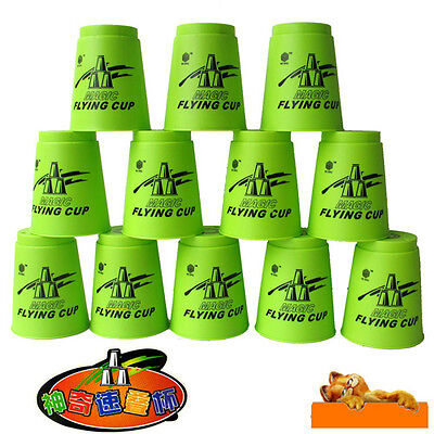 12pcs a set Speed Stacks Sport Stacking Flying Rapid Cups Luminous Toy Game