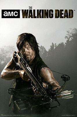 THE WALKING DEAD Daryl Dixon Norman Reedus Crossbow Poster, Size 24x36