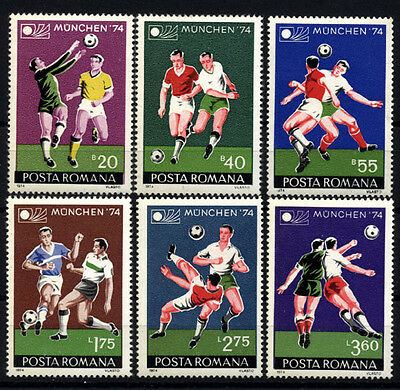 1225 ROMANIA 1974 World Cup Soocer Championships MNH