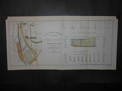 Leavenworth Kansas Missouri River 1893 Map Hand Colored Railroad Lines Fort
