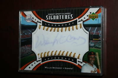2007 Sweet Spot Classic Signatures Legendary GOLD Willie McCovey Auto HOF /15