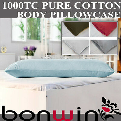 1000TC 100% Egyptian Cotton Body/Full/Maternity/Hug/Support Pillow Case 48*150cm