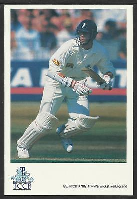 NICK KNIGHT -- WARWICKSHIRE & ENGLAND. TCCB CRICKET POSTCARD No. 55