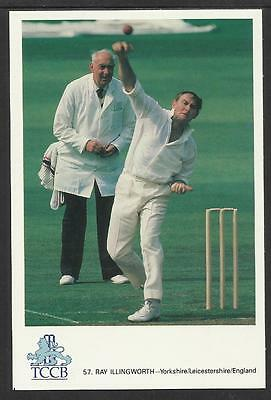 RAY ILLINGWORTH -- YORKSHIRE & LEICESTERSHIRE & ENGLAND. TCCB  POSTCARD No. 57