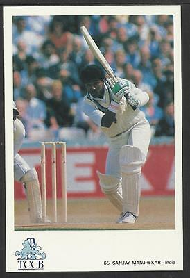 SANJAY MANJREKAR --  INDIA. OFFICIAL TCCB  POSTCARD No. 65