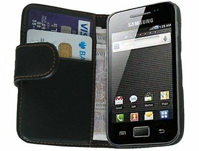 WALLET Leather Case Cover for Samsung Galaxy Ace GT-S5830 / GT-S5830i