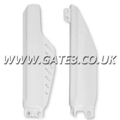 HONDA CR85 2003-2007 White Polisport Plastic Front Lower Fork Guards Fairings