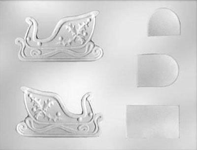 3D Sleigh Christmas Chocolate Candy Mold from CK #4321- NEW