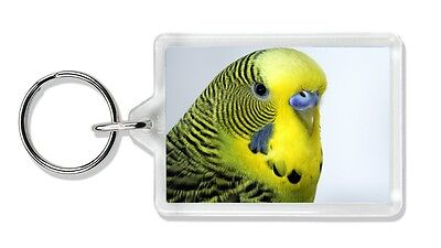 Yellow Budgerigar Photo Keyring Stocking Filler, AB-51K