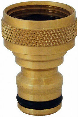 """Ck 5/8"""" Solid Brass Threaded Tap Connector For 1/2"""" Hose Pipes"""