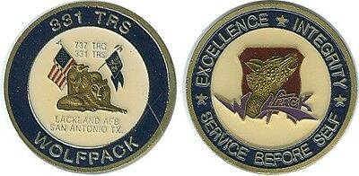 331 TRS Wolfpack Lackland AFB San Antonio TX Challenge Coin