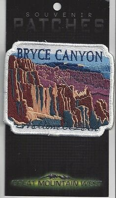 SOUVENIR PATCH BRYCE CANYON NP UTAH - SQUARE