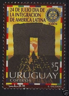 Rotary international 90 aniversary URUGUAY Sc#1582 MNH STAMP cv$3