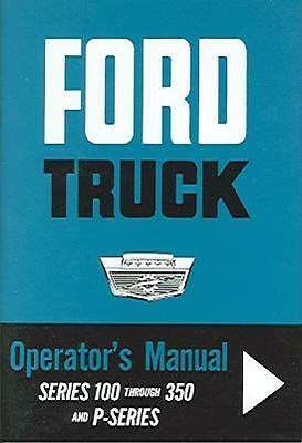 1963 63 Ford Truck Owner's  Manual- F100-F350