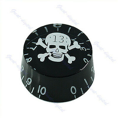 1PC For Gibson Les Paul Electric Guitar Part Black Skull Speed Control Knob