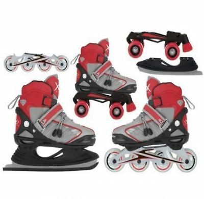 Xq Max Boys Inline Skates Roller Ice Skating Boots Transformer Adjustable Shoes